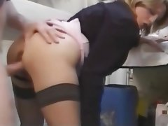 Blonde French MILF Old and Young Stockings