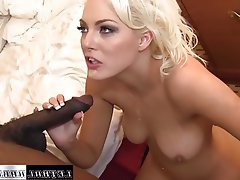 Blonde Hardcore Interracial Pornstar Teen