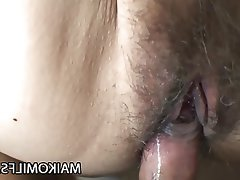 Asian Close Up Creampie Japanese Mature