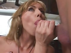 Anal Blonde MILF Old and Young Kitchen