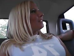 POV Blonde Car