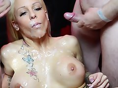 Big Boobs Blonde Blowjob Cumshot