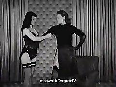 Vintage MILF Spanking Bondage