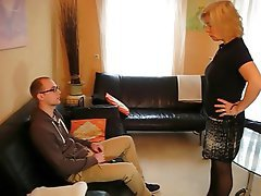 Blonde German Mature Stockings