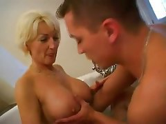 Blonde Blowjob Cumshot Mature Old and Young