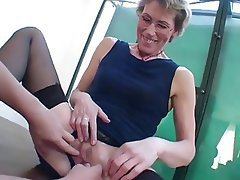 Hardcore Mature Old and Young Threesome