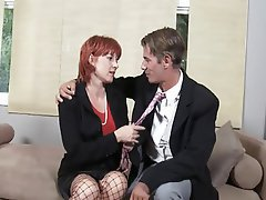 Blowjob Cumshot Mature Redhead