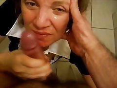 Amateur Blowjob Facial Handjob Mature
